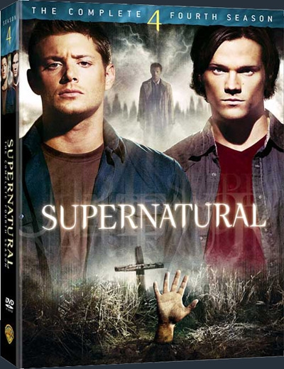 Box de DVDs Supernatural da 4ª temporada.