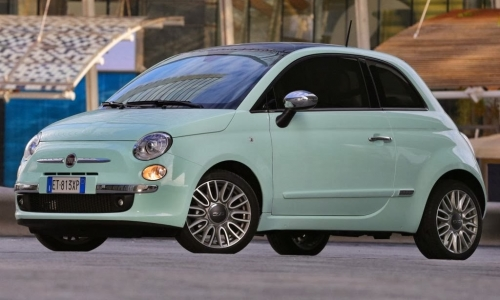 fiat 500 verde menta. Black Bedroom Furniture Sets. Home Design Ideas