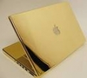 notbook apple dourado