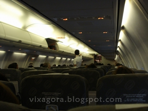 dentro  do aviao